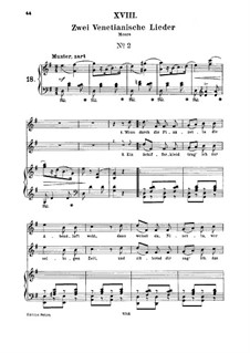 No.18 Venetian Song No.2: For medium voice and piano by Robert Schumann