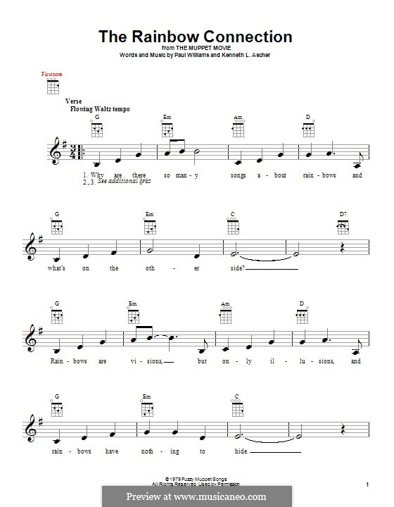 Ukulele u00bb Ukulele Chords Rainbow Connection - Music Sheets, Tablature, Chords and Lyrics