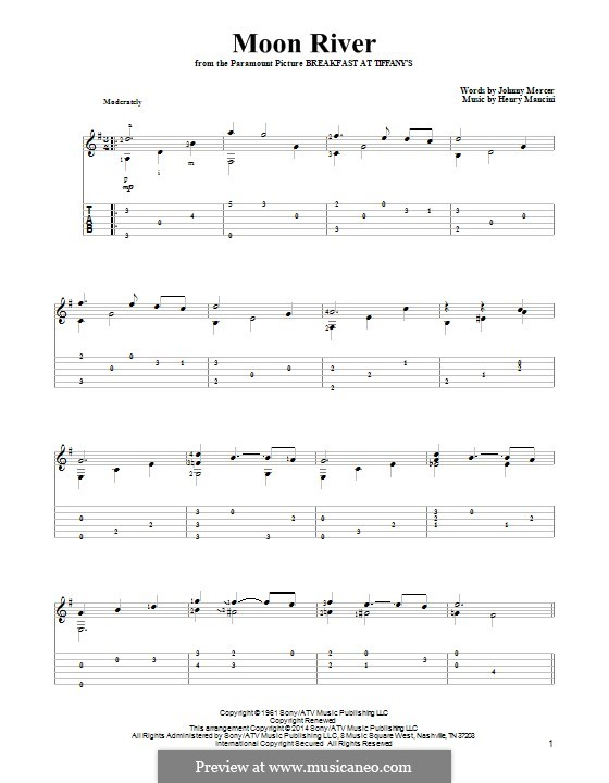 Ukulele u00bb Moon River Ukulele Chords - Music Sheets, Tablature, Chords and Lyrics