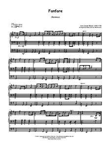 Fanfare: For organ by Jean-Joseph Mouret