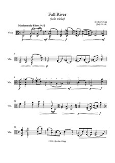 Fall River (solo viola): Fall River (solo viola) by Jordan Grigg