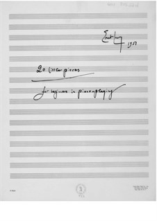 Fifty Pieces for Piano Students: Book I (manuscript) by Ernst Levy
