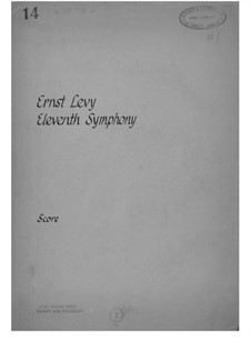 Symphony No.11: Full score by Ernst Levy