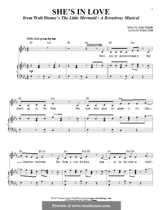 She's in Love (from The Little Mermaid) by A. Menken on ...