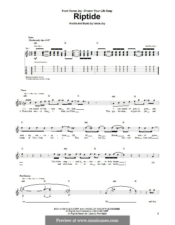 Ukulele u00bb Ukulele Chords Riptide - Music Sheets, Tablature, Chords and Lyrics