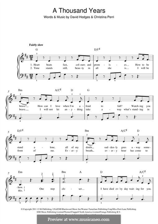 Violin u00bb Thousand Years Violin Chords - Music Sheets, Tablature, Chords and Lyrics