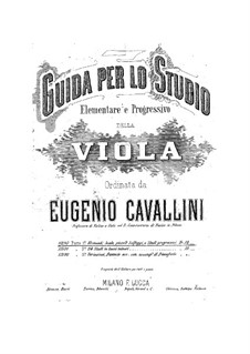 Viola Method: Book I Elementary and Progressive Exercises by Eugenio Cavallini