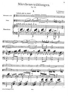 Märchenerzählungen (Fairy Tales), Op.132: Full score by Robert Schumann