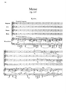 Mass in C Minor, Op.147: Piano-vocal score by Robert Schumann