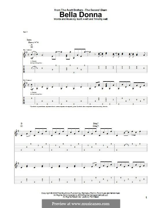 Bella Donna (The Avett Brothers) by S. Avett, T. Avett on MusicaNeo