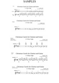 O Holy Night: For clarinet and guitar by Adolphe Adam
