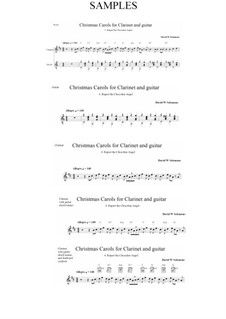 Rupert the chocolate angel (Ruprecht der Schoko-Engel): For clarinet and guitar by David W Solomons