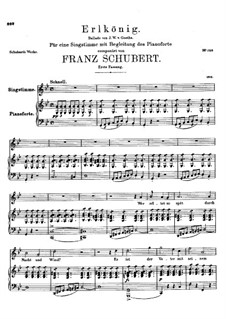 Erlkönig (Forest King), D.328 Op.1: For voice and piano - first version by Franz Schubert