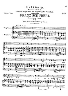Erlkönig (Forest King), D.328 Op.1: For voice and piano - fourth version by Franz Schubert