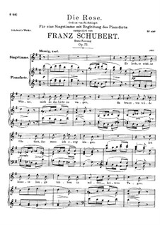 The Rose, D.745 Op.73: First version by Franz Schubert