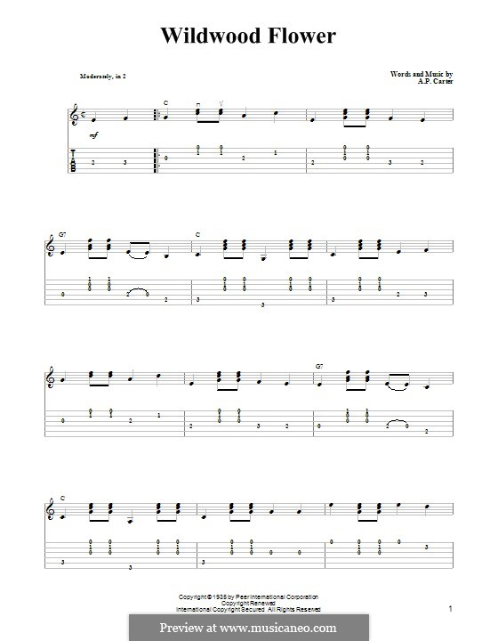 wildwood flower the carter family by a carter sheet music on musicaneo. Black Bedroom Furniture Sets. Home Design Ideas