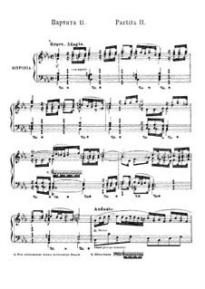 Partita for Keyboard No.2 in C Minor, BWV 826: Version for piano by Johann Sebastian Bach