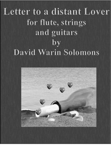 Letter to a distant lover: For flute, strings and guitars by David W Solomons