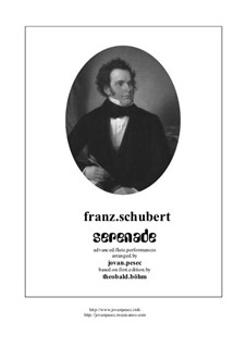 No.4 Ständchen (Serenade): For flute and guitar by Franz Schubert