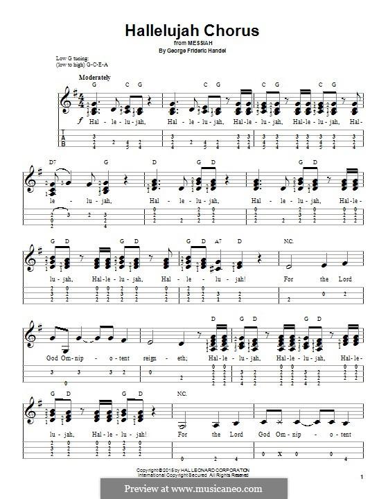 No.44 Hallelujah: For ukulele by Georg Friedrich Händel
