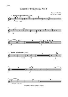 Chamber symphony No.8 'Raga & Tao: Views of spiral Galaxies', Op.138: Parts by Richard Burdick