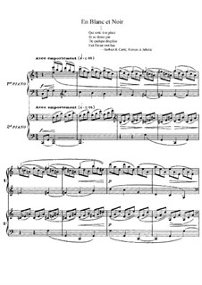 En blanc et noir in black and white by c debussy on musicaneo - Bar piano blanc et noir ...