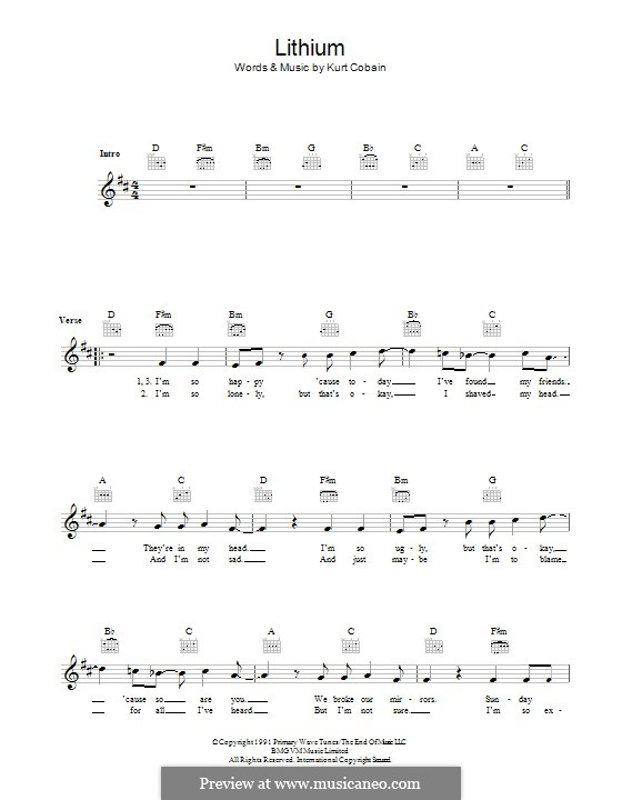 Lithium Nirvana Chords / Bactrim for 10 days for uti