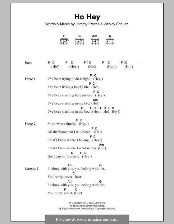 Banjo u00bb Banjo Chords Ho Hey - Music Sheets, Tablature, Chords and Lyrics