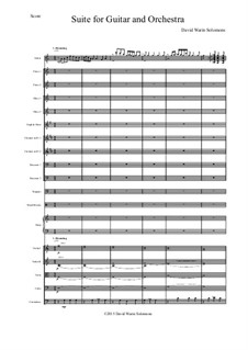 Guitar and Orchestra Suite: Complete – score only by David W Solomons