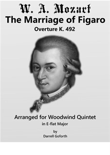 Overture: For woodwind quintet (in E-flat Major) by Wolfgang Amadeus Mozart