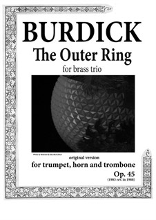 The Middle Ring: For brass trio, Op.45 by Richard Burdick