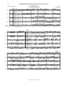 Fireworks Music, HWV 351: La Rejouissance and Menuets. Arrangement for cello quartet by Georg Friedrich Händel