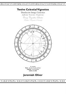 Twelve Celestial Vignettes: Twelve Celestial Vignettes by Jeremiah Oliver