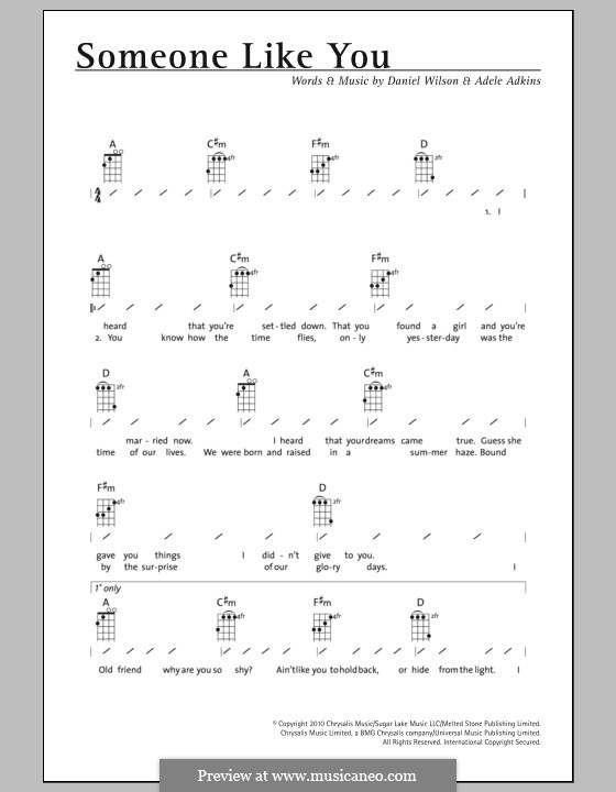 Ukulele : ukulele chords hello adele Ukulele Chords along with ...
