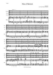 Men of Harlech (Rhyfelgyrch Gwŷr Harlech): For string trio and piano by folklore, David W Solomons