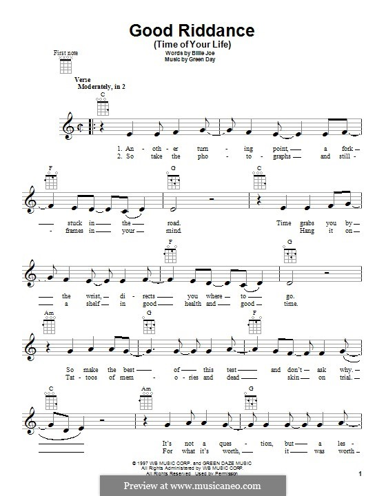 Colorful Good Riddance Ukulele Chords Picture Collection - Chord ...
