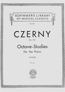 Six Octave Etudes, Op.553: For piano by Carl Czerny