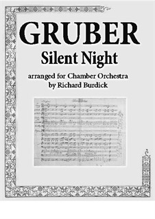 Silent Night (Downloadable): For chamber orchestra by Franz Xaver Gruber