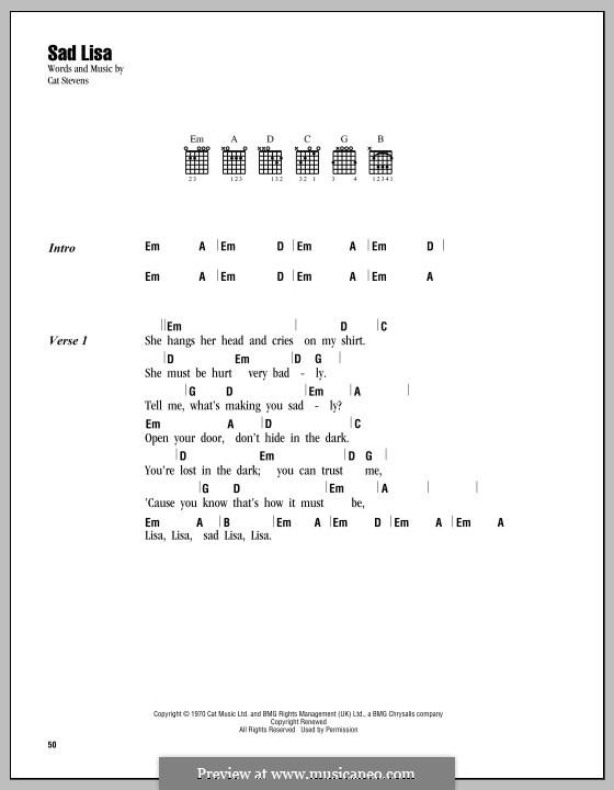Sad Lisa by C. Stevens - sheet music on MusicaNeo