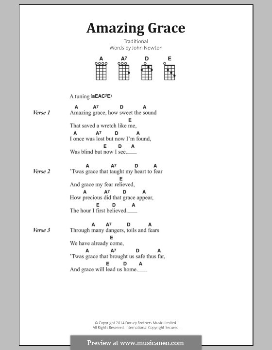 Piano amazing grace piano chords : Amazing Grace (Printable Scores) by folklore - sheet music on ...