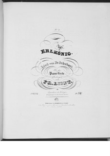 Erlkönig (Forest King), D.328 Op.1: Arrangement for piano, S.558 No.4 by Franz Schubert
