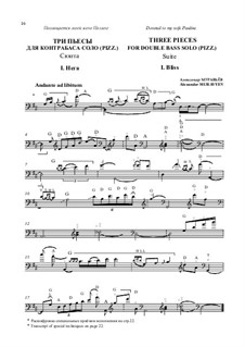 Suite 'Three pieces for double bass solo (pizz.)': Suite 'Three pieces for double bass solo (pizz.)' by Alexander Muravyev