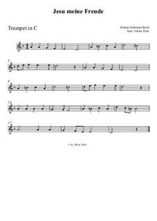 Jesu, meine Freude, BWV 227: Für Trompete in C by Johann Sebastian Bach