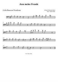 Jesu, meine Freude, BWV 227: Für Posaune by Johann Sebastian Bach