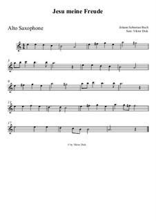 Jesu, meine Freude, BWV 227: Für Altsaxophon by Johann Sebastian Bach
