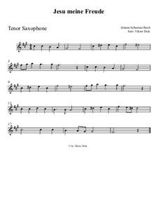 Jesu, meine Freude, BWV 227: Für Tenorsaxophon by Johann Sebastian Bach