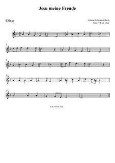 Jesu, meine Freude, BWV 227: Für Oboe by Johann Sebastian Bach
