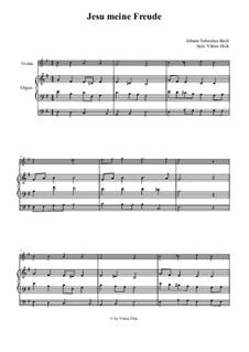 Jesu, meine Freude, BWV 227: Für Violine und Orgel by Johann Sebastian Bach
