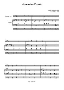 Jesu, meine Freude, BWV 227: Für Trompete in C und Orgel by Johann Sebastian Bach