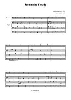 Jesu, meine Freude, BWV 227: Für Fagott und Orgel by Johann Sebastian Bach
